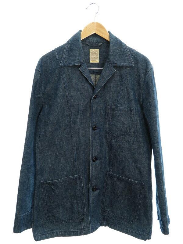 【EDIFICE】【アウター】エディフィス『デニムジャケット size40』メンズ 1週間保証【中古】