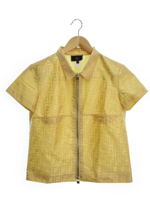 【FENDI】【トップス】フェンディ『ジップ半袖カットソー size40』レディース シャツ 1週間保証【中古】