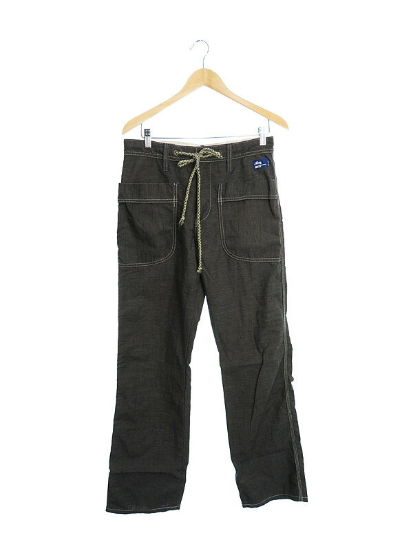 【EDWIN】【ボトムス】エドウィン『麻混ストレートパンツ size:S』メンズ 1週間保証【中古】