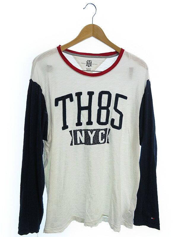 【TOMMY HILFIGER】【トップス】トミーヒルフィガー『長袖Tシャツ sizeXL』メンズ 1週間保証【中古】