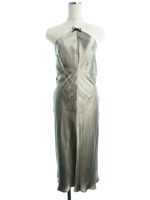 【GUCCI】グッチ『シルクロングドレス size36』レディース 1週間保証【中古】