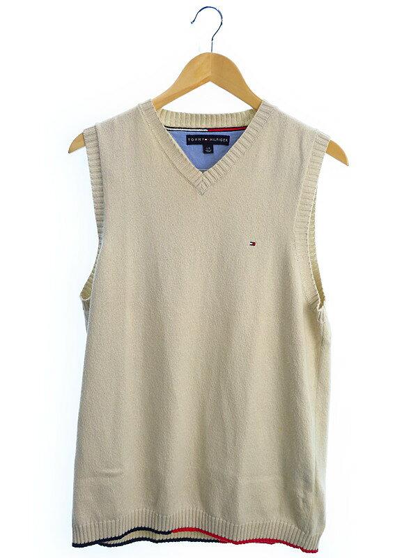 【TOMMY HILFIGER】【トップス】トミーヒルフィガー『ニットベスト sizeL』メンズ セーター 1週間保証【中古】