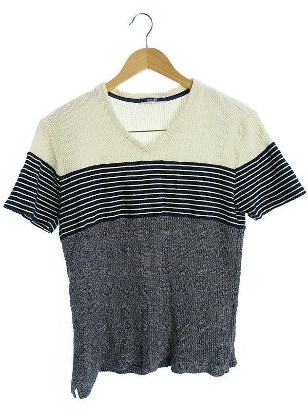 【RIELABO】【トップス】リエラボ『長袖ボーダーニット size48』メンズ セーター 1週間保証【中古】
