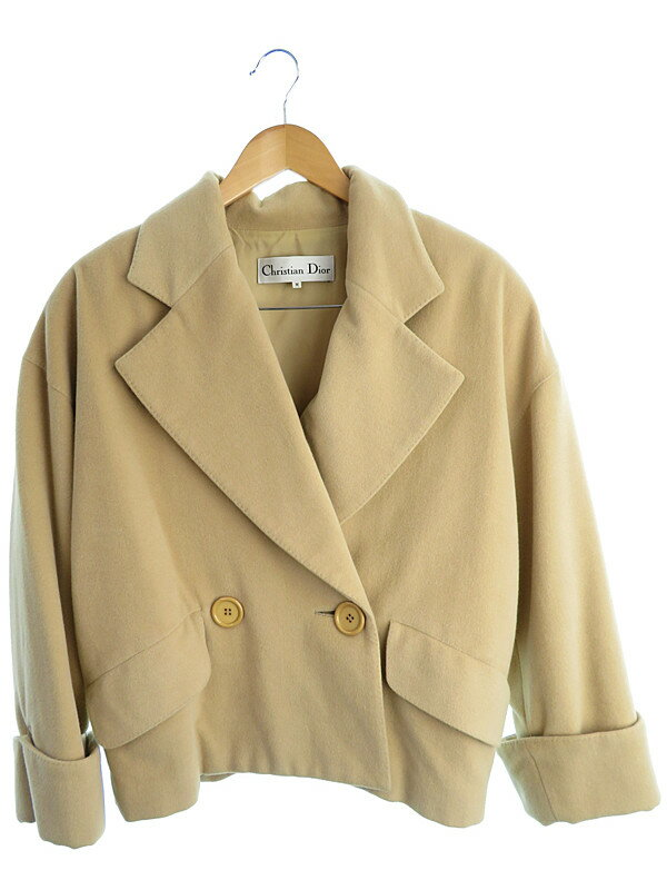 【christian Dior】【アウター】クリスチャンディオール『ウールショートコート sizeM』レディース 1週間保証【中古】