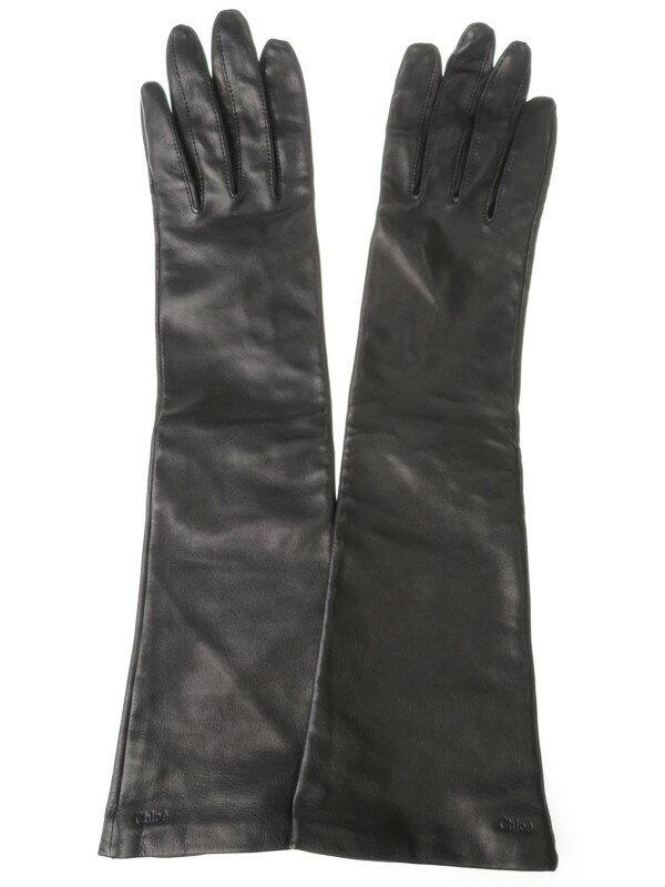 【Chloe】クロエ『レザーグローブ size21cm』レディース 手袋 1週間保証【中古】