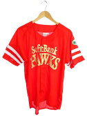 【softbank HAWKS】【トップス】ソフトバンクホークス『ユニフォーム sizeL』メンズ シャツ 1週間保証【中古】b02f/h11AB