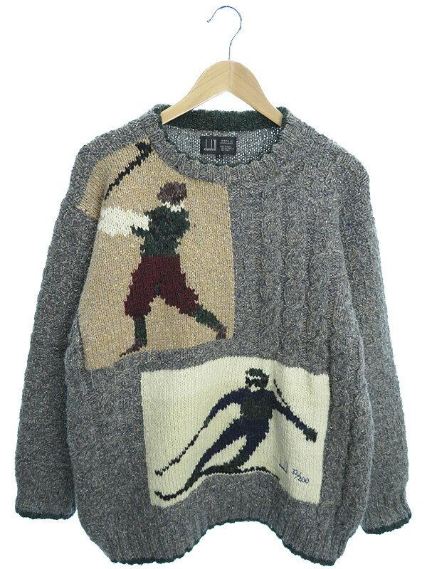 【dunhill】【トップス】ダンヒル『長袖ニット sizeS』メンズ セーター 1週間保証【中古】