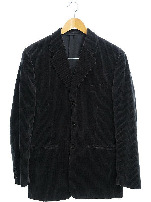 【BARREAUX】【上下セット】【ツーピース】バルー『ベロアセットアップスーツ size48』メンズ 1週間保証【中古】