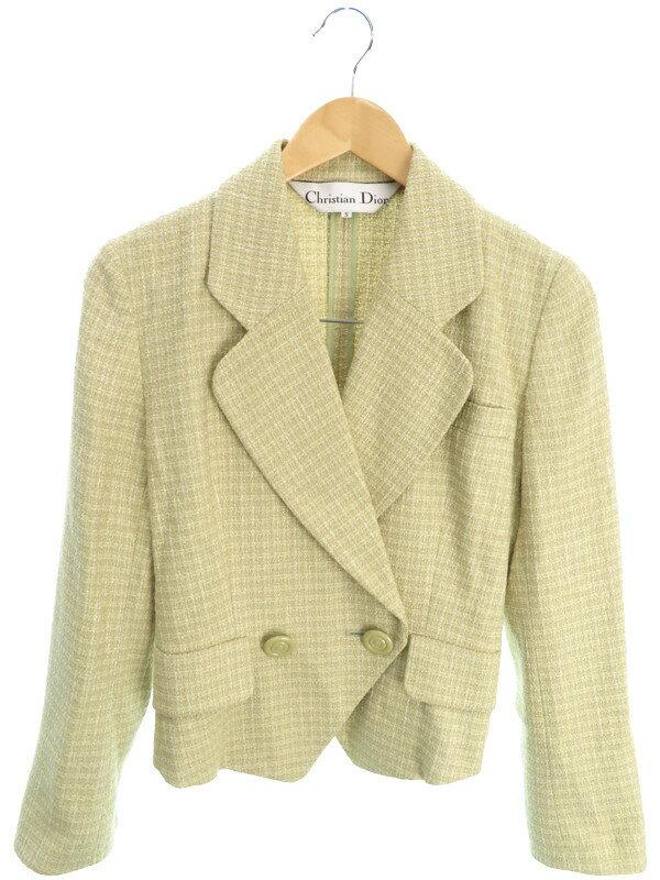 【Christian Dior】【アウター】クリスチャンディオール『テーラードジャケット sizeS』レディース 1週間保証【中古】