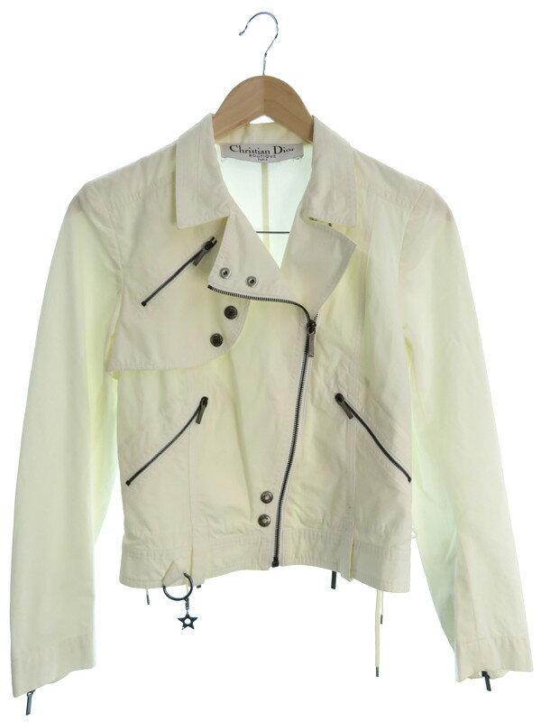 【Christian Dior】【アウター】クリスチャンディオール『ライダースジャケット size36』レディース 1週間保証【中古】