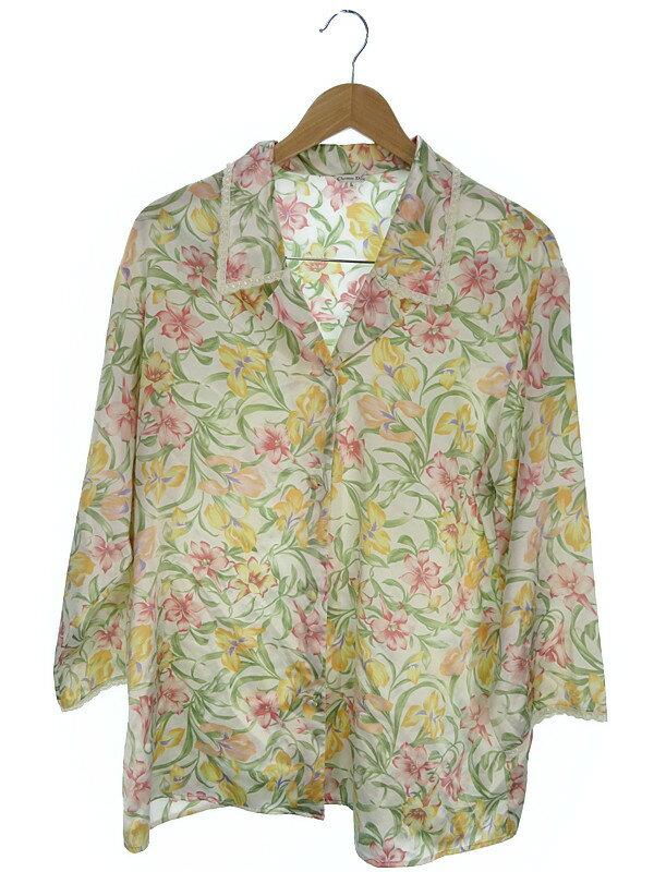 【Christian Dior】クリスチャンディオール『花柄パジャマ上下 sizeL』レディース 1週間保証【中古】