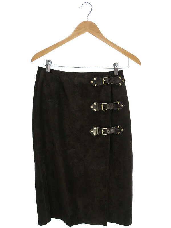【CELINE】【ボトムス】セリーヌ『スエード巻きスカート size38』レディース 1週間保証【中古】