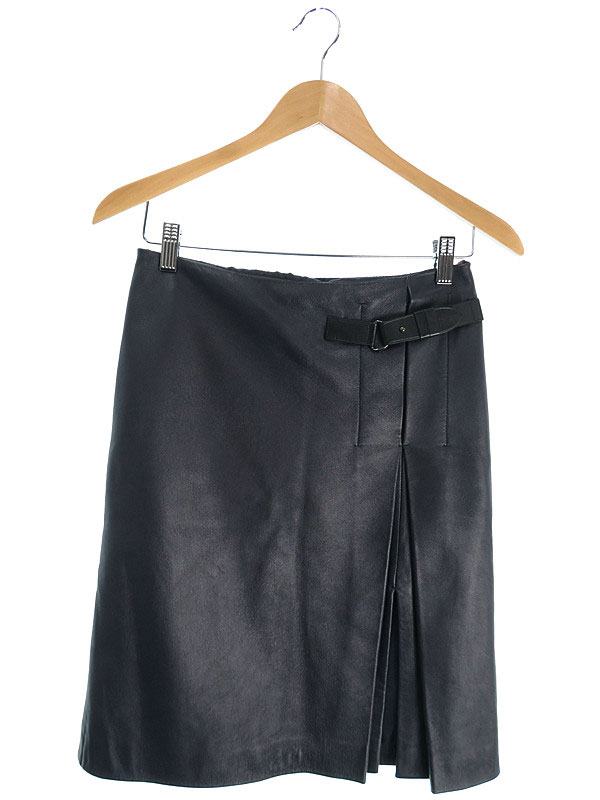【Calvin Klein】【ボトムス】カルバンクライン『レザースカート size2』レディース 1週間保証【中古】