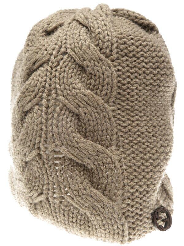 【GUCCI】グッチ『ニット帽 sizeL』メンズ 帽子 1週間保証【中古】