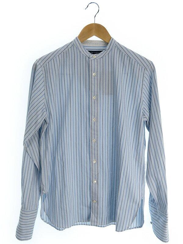 【Ralph Lauren】【トップス】ラルフローレン『ストライプ柄長袖スタンドカラーシャツ size4』メンズ 1週間保証【中古】