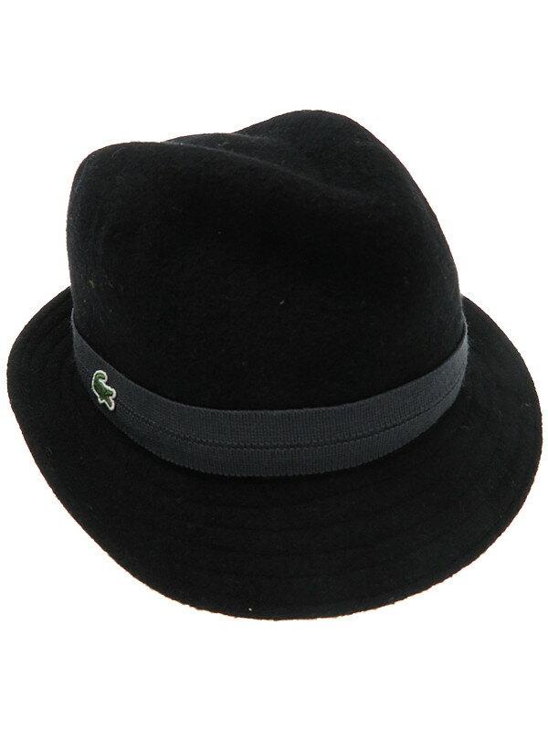 【LACOSTE】【帽子】ラコステ『ウールハット size58cm』メンズ 帽子 1週間保証【中古】