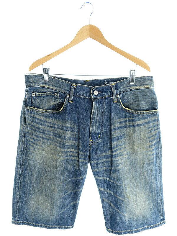 【EDWIN】【ジーパン】【ジーンズ】エドウィン『デニムハーフパンツ size36』メンズ デニムパンツ 1週間保証【中古】