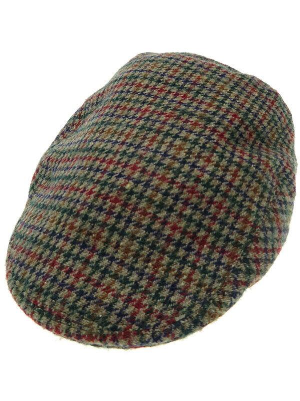 【BARBOUR】バブアー『千鳥格子柄ハンチング帽 size62cm』メンズ 帽子 1週間保証【中古】