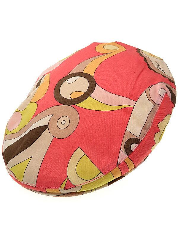 【EMILIO PUCCI】エミリオプッチ『総柄ハンチング』レディース 帽子 1週間保証【中古】