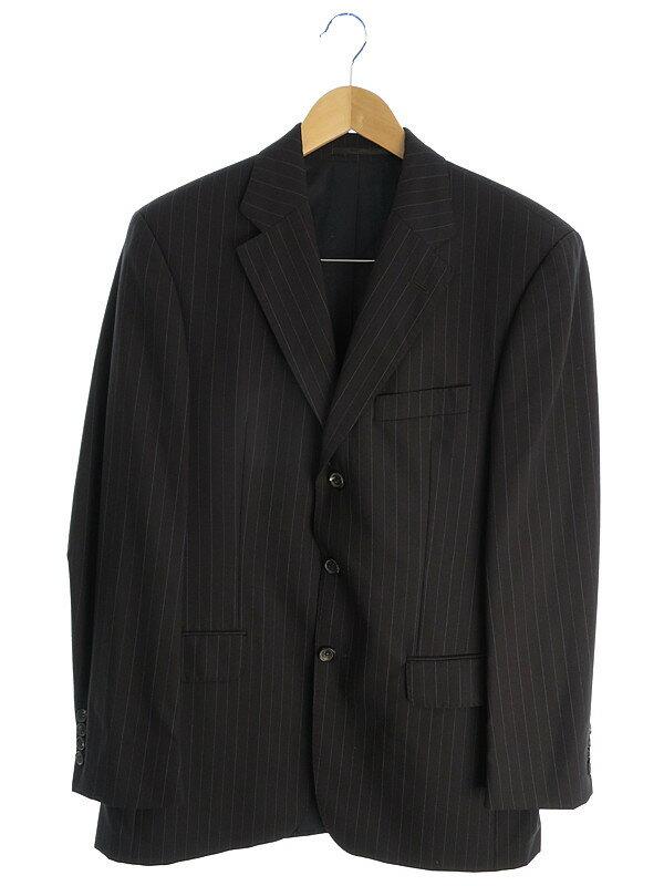 【HUGO BOSS】ヒューゴボス『ストライプスーツ上下 size46』メンズ セットアップ 1週間保証【中古】