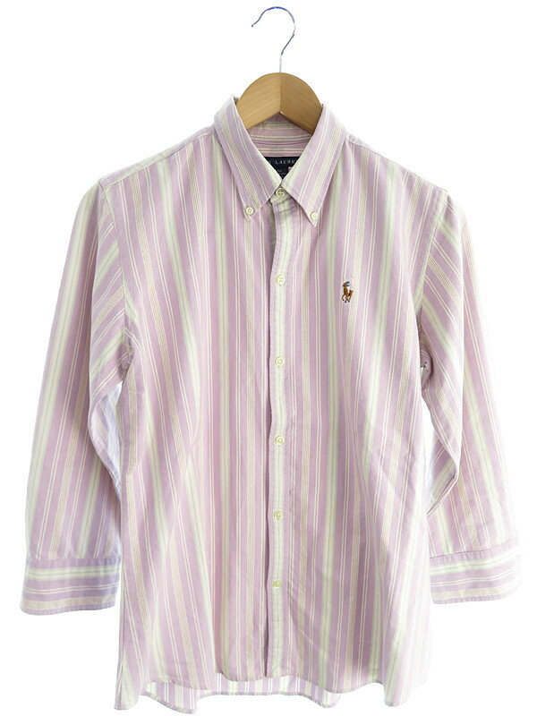 【RALPH LAUREN】【トップス】ラルフローレン『七分袖シャツ size10』メンズ 1週間保証【中古】