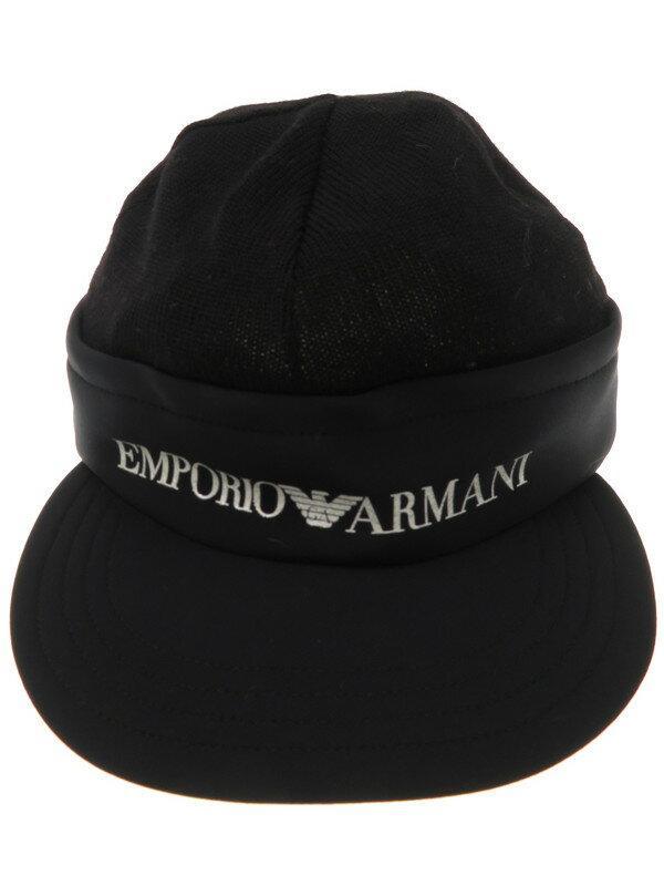 【EMPORIO ARMANI】エンポリオアルマーニ『ニットキャップ size60』メンズ 帽子 1週間保証【中古】