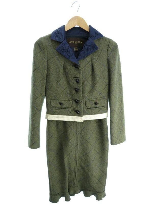 【Louis Vuitton】【上下セット】【2ピース】ルイヴィトン『スカートスーツ size36』レディース セットアップ 1週間保証【中古】