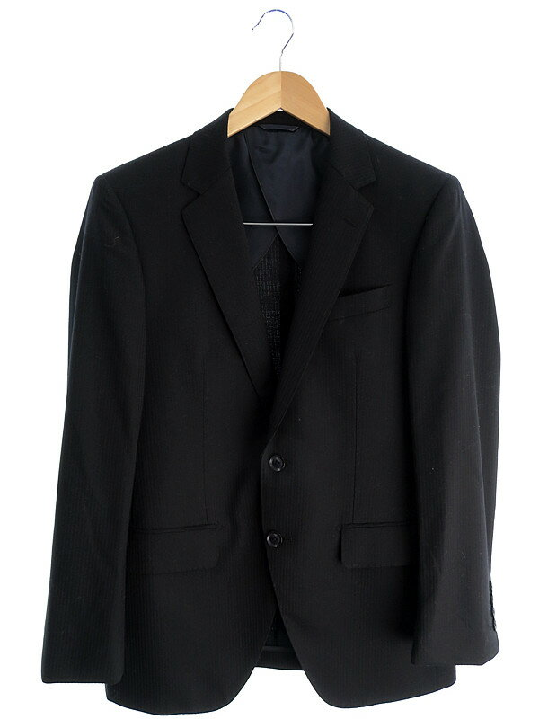 【JOHN PEARSE】【上下セット】【ベスト付】ジョンピアース『3ピース ストライプ柄スーツ sizeA4』メンズ セットアップ 1週間保証【中古】