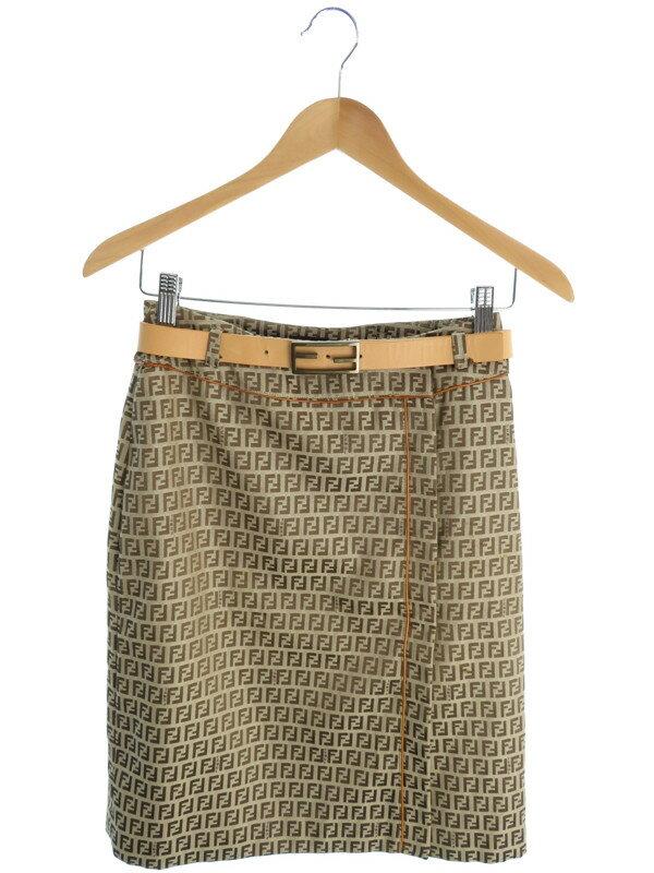 【FENDI】【ボトムス】フェンディ『ロゴ巻きスカート size38』レディース 1週間保証【中古】