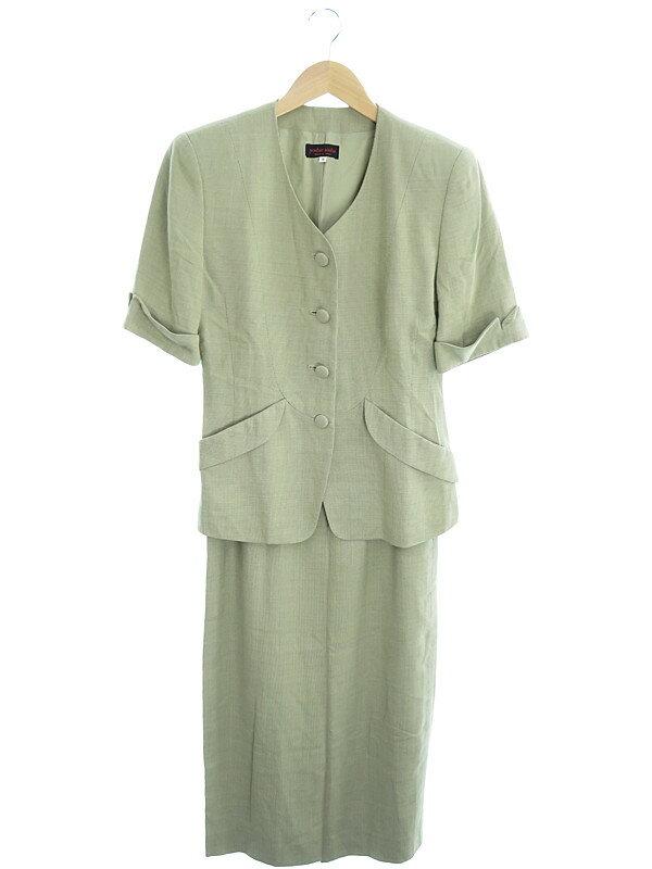 【yoshie inaba】【上下セット】ヨシエイナバ『半袖スカートスーツ size9』レディース セットアップ 1週間保証【中古】