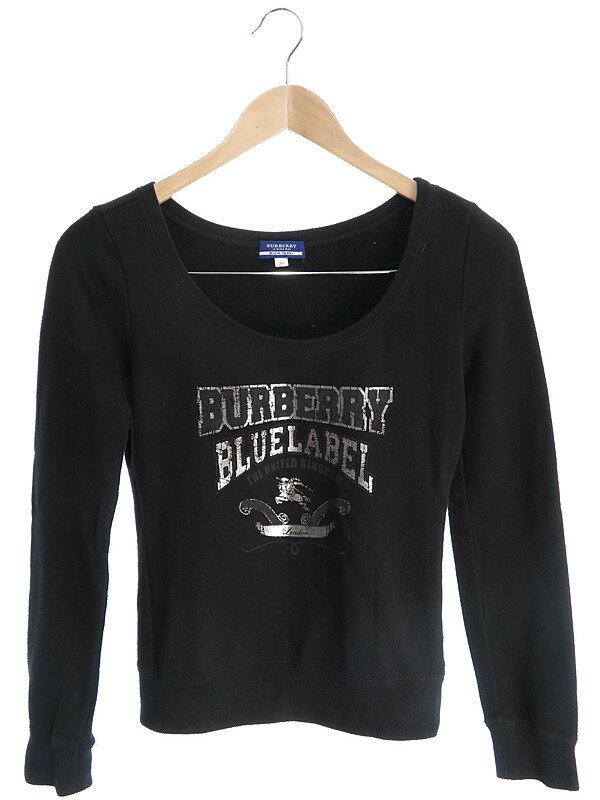 【BURBERRY BLUE LABEL】【トップス】バーバリーブルーレーベル『長袖スウェット size38』レディース トレーナー 1週間保証【中古】