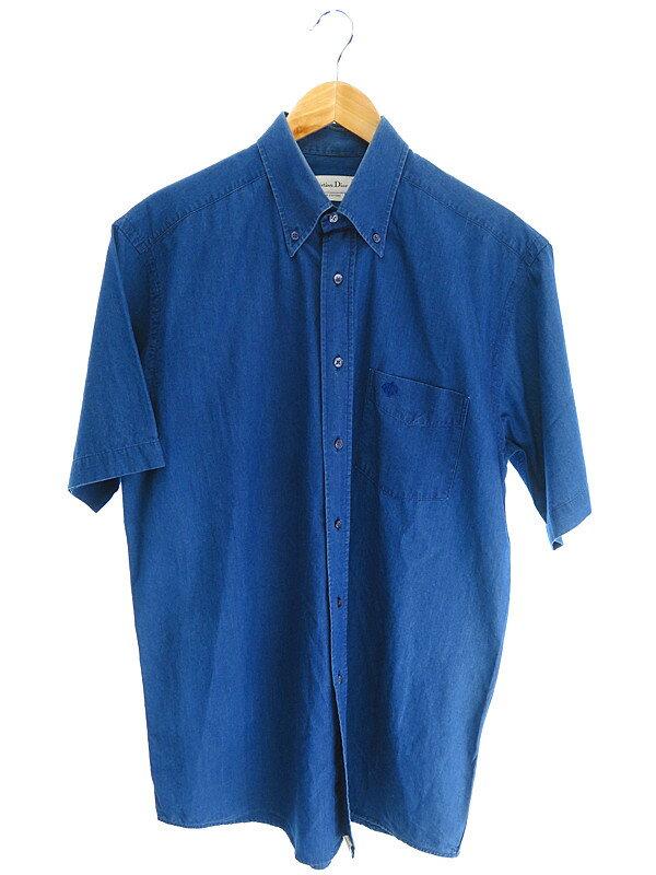 【Christian Dior】【トップス】クリスチャンディオール『半袖ボタンダウンシャツ sizeM/3』メンズ 1週間保証【中古】