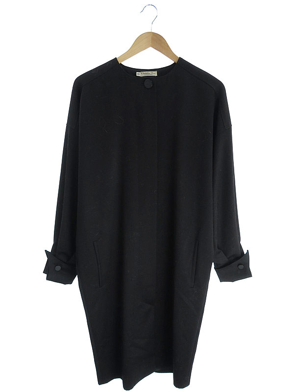 【Christian Dior】【アウター】クリスチャンディオール『ウールノーカラーコート size42/8』レディース 1週間保証【中古】