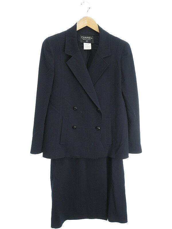 【CHANEL】【2ピース】【上下セット】シャネル『スカートスーツ size40』98A レディース セットアップ 1週間保証【中古】