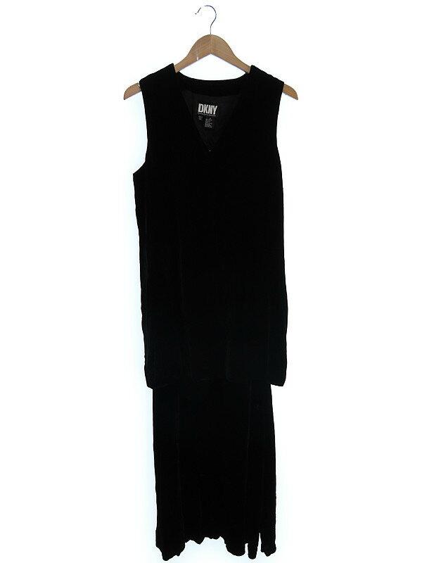 【DKNY】【上下セット】ダナキャラン『ベロアスカートスーツ size6』レディース セットアップ 1週間保証【中古】