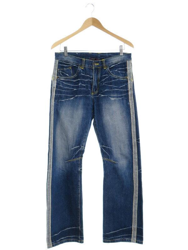 【Kelen】【ボトムス】【ジーパン】ケレン『シワ加工ジーンズ size32』メンズ デニムパンツ 1週間保証【中古】