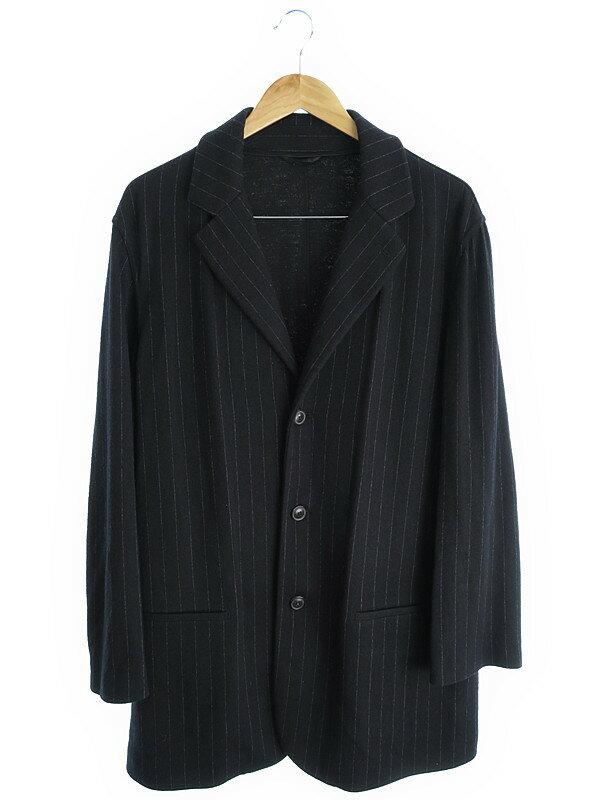 【GIORGIO ARMANI】【上下セット】ジョルジオアルマーニ『ストライプスーツ上下 size56』メンズ セットアップ 1週間保証【中古】