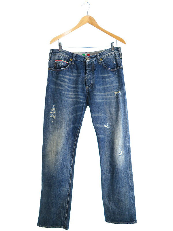 【ARMANI JEANS】【ボトムス】【ジーパン】アルマーニ『ジーンズ size34』メンズ デニムパンツ 1週間保証【中古】
