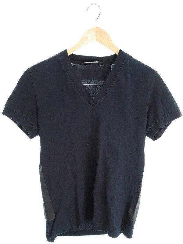 【Dolce&Gabbana】【トップス】ドルチェ&ガッバーナ『半袖 VネックTシャツ size46』メンズ カットソー 1週間保証【中古】
