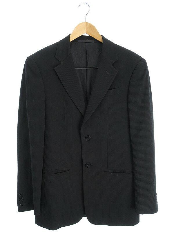 【ARMANI COLLEZIONI】【上下セット】アルマーニコレッツォーニ『ストライプ柄スーツ size44/R』メンズ セットアップ 1週間保証【中古】