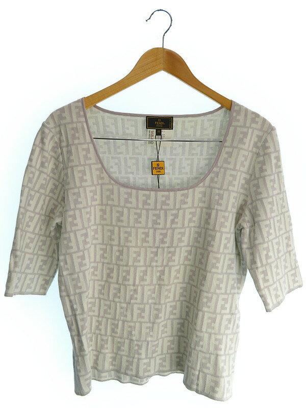 【FENDI】【トップス】フェンディ『総柄五分袖ニット size48』メンズ セーター 1週間保証【中古】