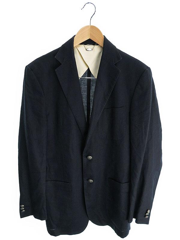 【23ku HOMME】【アウター】23区オム『リネンテーラードジャケット size48』メンズ ブレザー 1週間保証【中古】