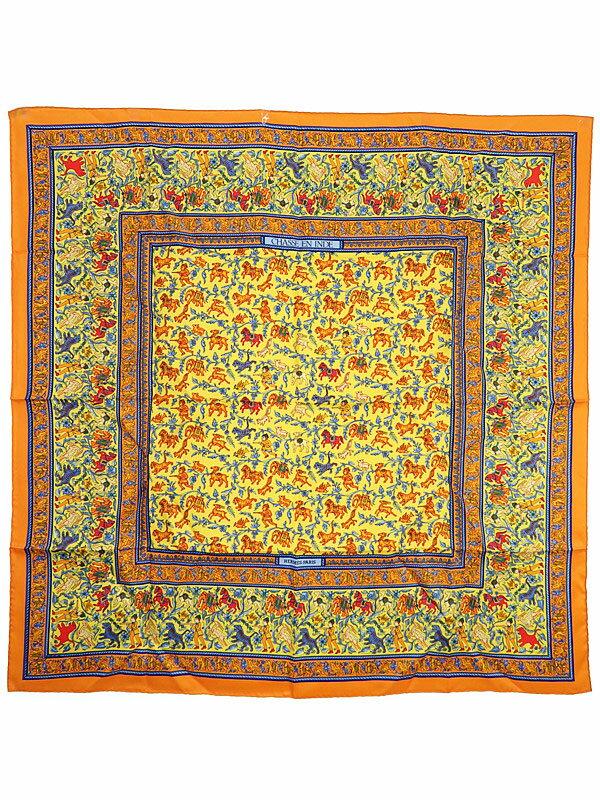 【HERMES】【CHASSE EN INDE】エルメス『カレ90  インドの狩猟』レディース スカーフ 1週間保証【中古】