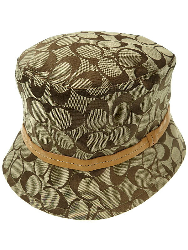 【COACH】コーチ『シグネチャー柄キャンパスハット size M/L』レディース 帽子 1週間保証【中古】