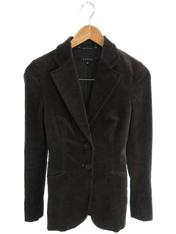 【GUCCI】【アウター】グッチ『テーラードジャケット size38』レディース ブレザー 1週間保証【中古】