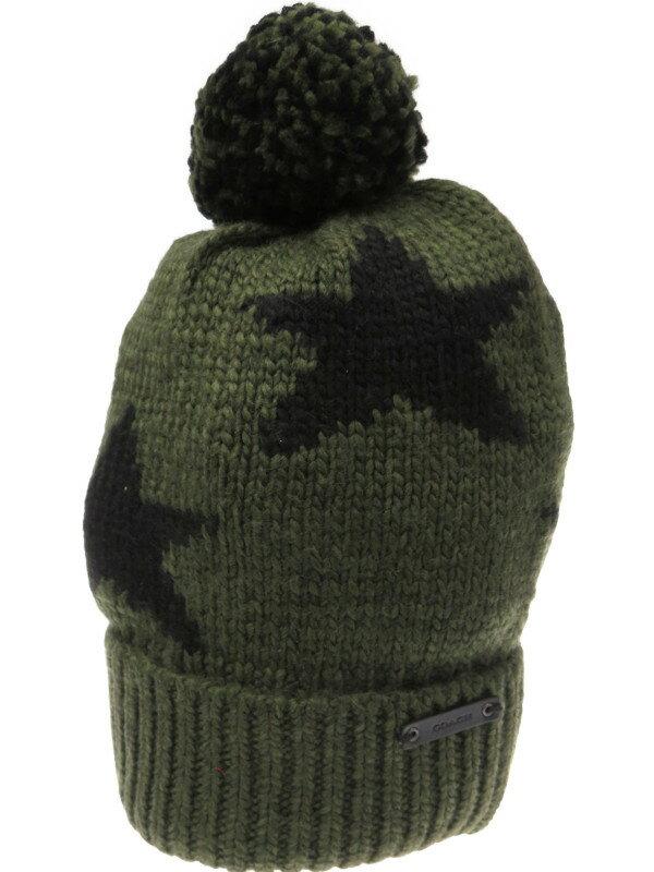 【COACH】コーチ『インターシャ ニット帽』86023 EAX レディース 帽子 1週間保証【中古】