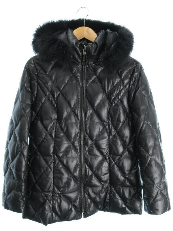 【MIA CARNA】【アウター】ミアカーナ『レザーキルティングジャケット size9』レディース 1週間保証【中古】