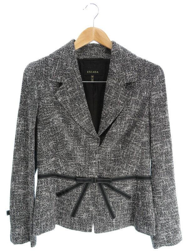 【ESCADA】【アウター】エスカーダ『ツイードジャケット size38』レディース 1週間保証【中古】