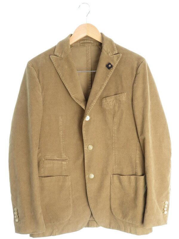 【LARDINI】【2ピース】ラルディーニ『コーデュロイ ジャケットパンツ 上下セット size48』メンズ セットアップ 1週間保証【中古】