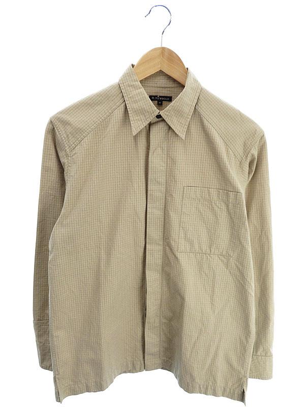 【R.NEWBOLD】【トップス】アールニューボールド『コットン長袖シャツ sizeM』メンズ 1週間保証【中古】